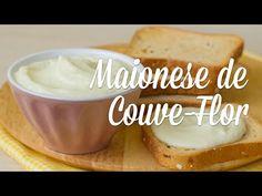 Receita maionese de couve flor, pouca gordura, sem gluen e sem lactose