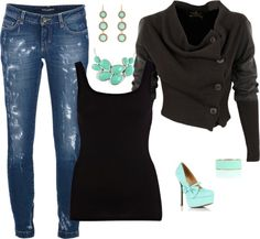 """""""Dark and Mint"""" by sarah-schultz-1 on Polyvore"""