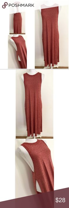Nordstrom LeiTH Racerback High Side Slit Tunic In great pre-loved long midi tunic top from LEiTH in size small. Stretch to the top. Great over some leggings. No flaws.  In a burnt reddish burgundy color. ❌No trades or modeling. Always open to reasonable offers. Bundle more to save more. Thank you‼️ LEiTH Tops Tunics