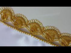 Making Eyelash Lace Model with Hairpin - Дизайн дома Needle Tatting, Needle Lace, Hairpin Lace Crochet, Knit Crochet, Crochet Borders, Gabel, Hair Pins, Lace Trim, Eyelashes