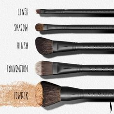 Makeup Brushes 101: Five essential pieces to start your collection. #Sephora #brushingup #brushes