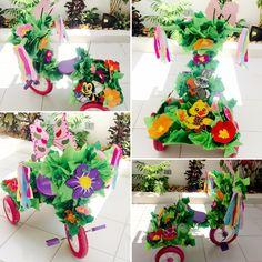 Triciclo decorado para primavera