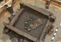 A 7,000-year-old wood-lined well discovered in eastern Germany was removed from the site in a single, enormous block and transported to a lab in Dresden for study.