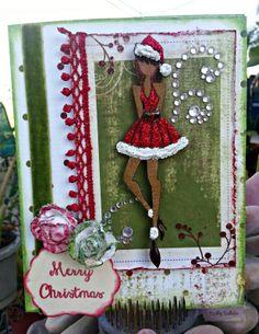 CDD Stamps, Happy Celebrations, Prima Doll