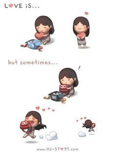 HJ-Story ~ Love is... Sometimes Love is... pinning this, http://www.shivohamyoga.nl/ #loveis #love #hj-story