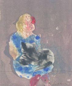 """Saatchi Art Artist ALINA FEDOTOVA; Painting, """"It isn't  Balthus  girl"""" #art"""