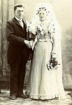 vintage bride and groom.. 1900
