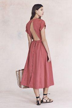 tulip-colored dress