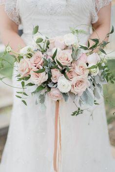 Romantic Delicate Pink Bridal Bouquet