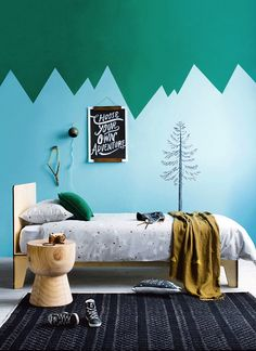 choose your own adventure - nature themed kids room