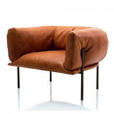 Rondo Armchair Tan Leather