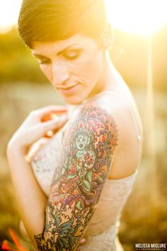 Tattoo outdoor boudoir session