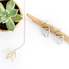 Bold yet intricate geometric stud earrings, Handmade from solid brass with sterling silver earring posts. Adinkra Symbols, Chain Earrings, Solid Brass, Sterling Silver Earrings, Africa, Pendant Necklace, Jewellery, Detail, Gold