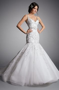 Bridal Gowns: Eve Of Milady Mermaid Wedding Dress with Sweetheart Neckline and Dropped Waist Waistline