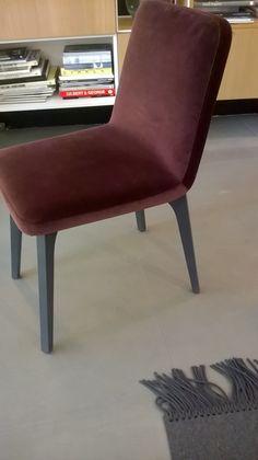 Pair of Vik dining chairs in moka brown velvet with grey ash legs regular price…