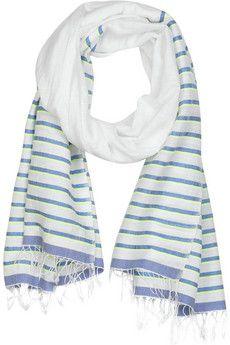 LemLem Nika woven cotton-blend wrap | NET-A-PORTER Lemlem, Woven Cotton, Fragrance, Perfume