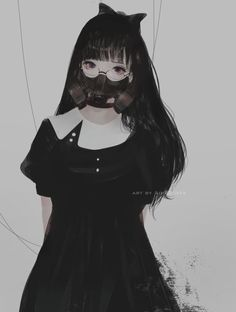 Dans le monde Gothique et Lolita d'Aoi Ogata - le site du Japon Manga Kawaii, Kawaii Anime Girl, Manga Anime, Yandere Manga, Fille Anime Cool, Art Anime Fille, Emo Anime Girl, Manga Girl, Gothic Anime