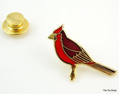 I love cardinals! Do you?. Cardinal Tie Tack | The Tie Chest