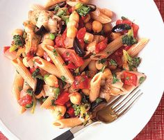 Veggie & Chickpea Ragu: This veggie-packed pasta will leave you full and satisfied for under 400 calories.