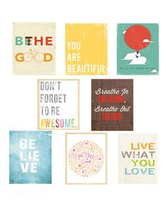 Look at this #zulilyfind! Inspiration Mini Print Set by Children Inspire Design #zulilyfinds