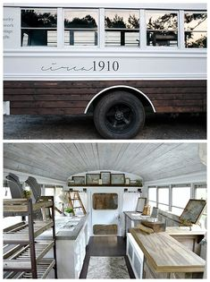 Unique jewelry shops, clothing boutiques and coffee shops are finding homes in retrofitted vintage trailers and are perfect for weddings and bach parties. Boutique Mobiles, A Boutique, Boutique Ideas, Mobile Spa, Mobile Home, School Bus Tiny House, School Bus Camper, Motorhome, Mobile Coffee Shop