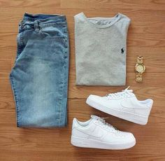 Outfit grid Light wash jeans - Mens Shirts Casual - Ideas of Mens Shirts Casual - Outfit grid Light wash jeans Komplette Outfits, Casual Outfits, Fashion Outfits, Summer Outfits, Fashion Styles, Grunge Outfits, School Outfits, Nike Shoes Outfits, Hipster Outfits
