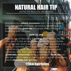 Black Girls Tips — How to Reduce Shedding