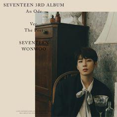 Wonwoo (원우) is a South Korean rapper under Pledis Entertainment. He is a member of the boy group SEVENTEEN and its hip-hop team. Seventeen Album, Seventeen Wonwoo, Diecisiete Wonwoo, Hip Hop, Won Woo, Adore U, Wattpad, Teaser, Pledis 17