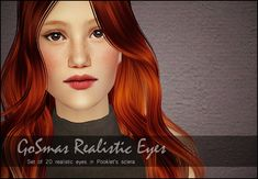 GoSmas Realistic Eyes: Set of 20 realistic eyes in Pooklet's sclera - The 12 Days of GoSmas - Advent 2013 (TS2) | Lilyth (lilith)