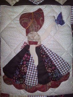 My Sunbonnet girls. Patricia Lewandowski Patchwork Favorite Depression era pattern for quilts that is still popular today. Quilt Block Patterns, Applique Patterns, Applique Quilts, Patchwork Quilting, Applique Designs, Quilt Blocks, Crazy Quilting, Patchwork Ideas, Doily Patterns