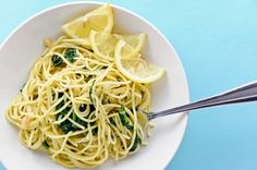 pasta with creamed spinach and butter