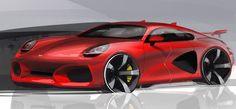 Porsche concept sketch by Aydar Nigmatullin