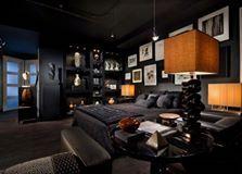Siyah kullanıcısına geri götürecek Güzel Yatak Odası!