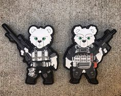 Exclusive to Patch Me Up Tactical Teddies custom PVC Tactical Morale Patch with Velcro Hook and Loop $45!!!