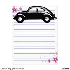 Classic Bug Letterhead #Car #Classic #Letterhead #Stationery