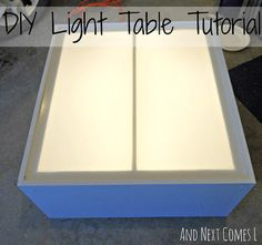 LOVE IT!!!! DIY light table tutorial (made from an old entertainment center) from And Next Comes L