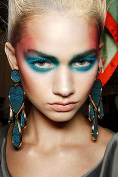 VIVIENNE WESTWOOD SS12 MAKE UP BY ALEX BOX WHOSE INSPIRATION WAS 'NEON NYMPHS'