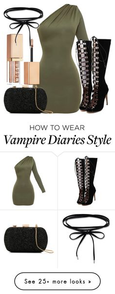 """""""Stefan Inspired New Years Eve / Party Outfit - The Vampire Diaries / The Originals"""" by fangsandfashion on Polyvore featuring WithChic, Stila and Le Lis Blanc"""