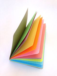 Travelers Notebook insert to fit Midori. This rainbow of colors will not only brighten your day, but make your Midori notebook come alive. Travelers Notebook, Planner Supplies, Art Supplies, Yellow Paper, Up Book, Leather Notebook, Book Binding, Book Making, Filofax