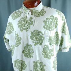 Hukilau Fashion Barkcloth Cotton Aloha Shirt Lg Tikis & Drums Floral Loop Collar Fancy Colours Casual Button-down Shirts