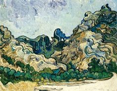 Happy 160th birthday, Vincent.   Mountains at Saint-Rémy (Montagnes à Saint-Rémy), July 1889. Oil on canvas, 28 1/4 × 35 3/4 inches (71.8 × 90.8 cm). Solomon R. Guggenheim Museum, New York Thannhauser Collection, Gift, Justin K. Thannhauser, 1978 78.2514.24.
