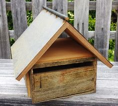 Hardwood Letterbox with RUsty Roof - Bird's the Word