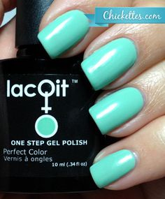 LacQit Mint in a Minute Swatch