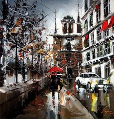 Beautiful Palette Knife Cityscapes - My Modern Met
