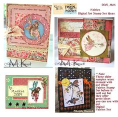 Here's a sample inspiration page included with the Fairies Download. Our Design Team are just receiving these new digital sets so watch for cool new samples I will post on the Blog and Pintrest.