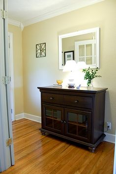 Entry Way, love the color of the ways, so soothing and welcoming.