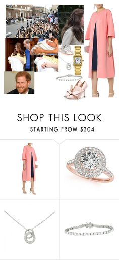 """""""One Wild Ride- Leaving the Lindo Wing with Harry and their newborn twins"""" by harryandthecambridges ❤ liked on Polyvore featuring Royal Baby, Safiyaa, Allurez, Cartier and Tiffany & Co."""