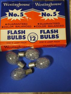 5 Westinghouse No 5 Flashbulbs in box, Class M Medium Peak #Westinghouse