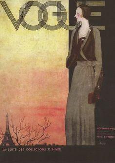 fantomas-en-cavale: Georges Lepape- couverture pour Vogue Paris de novembre 1930