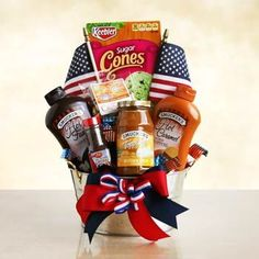 Patriotic Summer Gift Basket. See more at www.pro-gift-baskets.com!